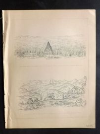 Baird 1857 Print. Emory's Monument, Canyon de Guadalupe, California Mexico